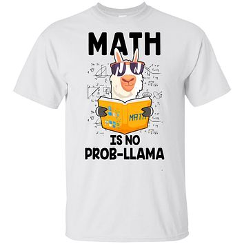 Funny Teacher Student Math Is No Prob Llama Lovers