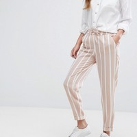 Only Striped Relaxed Tailored Trousers at asos.com