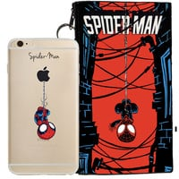 Spider-Man Jelly Clear Case For Apple Iphone 6/6s PLUS + Pouch
