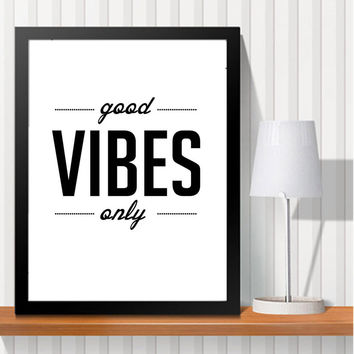 Black White A4 Art Print Poster Typography Motivational Life Quotes Wall Picture Canvas Painting (No Frame)