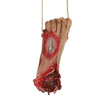 1PC Bloody Simulate Hand Halloween Party Decoration Terror Bloody Fake Body Hand Parts Severed Foot Halloween Prop Tool #E