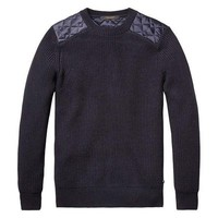 Midnight Blue Wool Sweater by Scotch and Soda