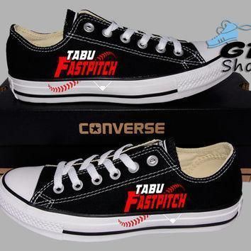 hand painted converse lo tabu girls fastpitch softball handpainted shoes