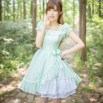 Royal fairy tale,2018 Japanese soft sister Princess LOLITA dress original chiffon summer cute dress w274