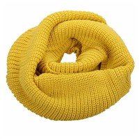 Women's Simplicity Thick Neck Warmer Men's Infinity Scarf