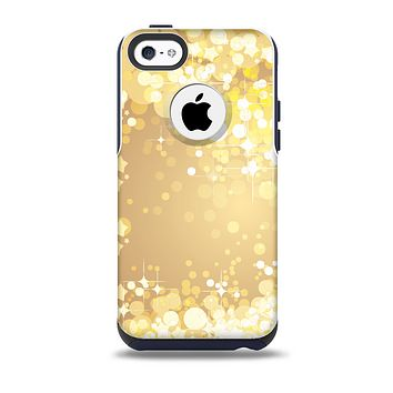 Gold Unfocused Sparkles Skin for the iPhone 5c OtterBox Commuter Case