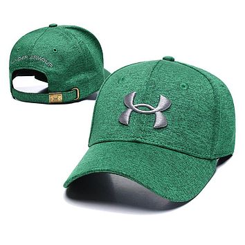 Under Armour Popular Women Men Personality Embroidery Sports Sun Hat Baseball Cap Hat Green