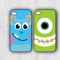 monster iPhone cases (2) - iPhone 4/4s case - iPhone 5/5s case - Disney Case - Monsters Inc - Christmas Gift - Stocking stuffer