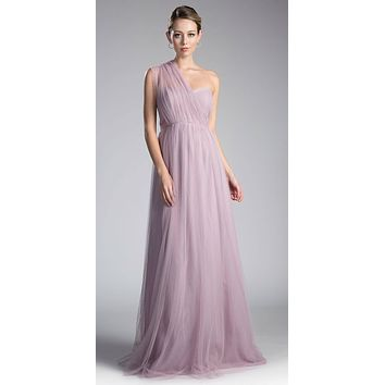 Tulle Infinity Style Long Bridesmaids Dress Mauve