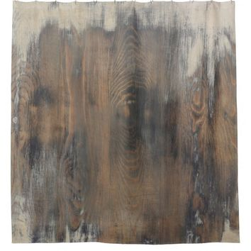 rustic,worn,wood,brown,wall,vintage,country,chic,s shower curtain