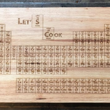 Breaking Bad Periodic Table Cutting Board - Laser Engraved - Science Art, Engraved Wood Kitchen Decor, Geekery, Let's Cook, Better Call Saul