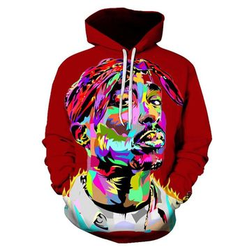 2018 New Design Hip hop brand Hooded Sweatshirts Men/Women 3d hoodies character Print Bob Marley casual Tracksuits