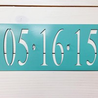Wedding Anniversary Date Metal Sign