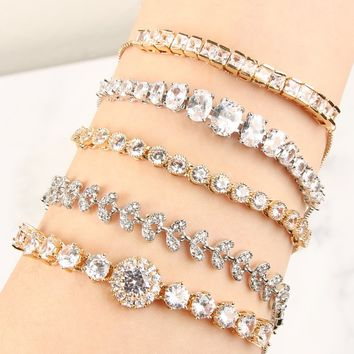 Cubic Zirconia Adjustable Bracelets