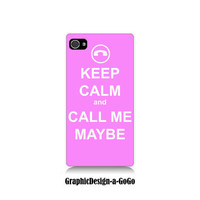 Iphone 4 case, Iphone 4s , Keep Calm and Call Me Maybe, custom cell phone case, original design