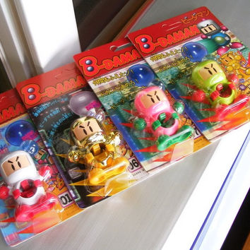 Takara 1994 Hudson Soft B-Daman Bomberman 2 No 01 06 07 09 Model Kit Action Figure Set