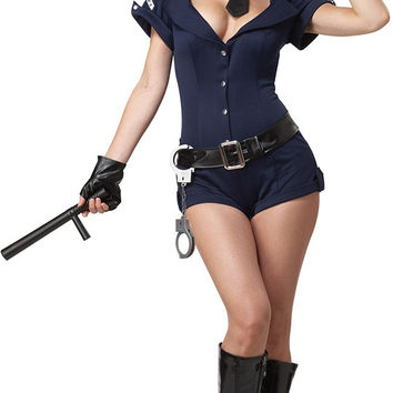 Short Sleeve Police Costumes Set
