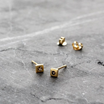 Jasmin Sparrow | Helpless Earrings | Gold with Smokey Quartz