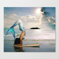 Mermaid Vibes Canvas Print by The Backwater Co