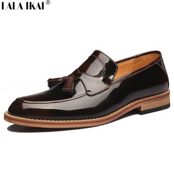 Slip On Patent Leather Men  Shoes