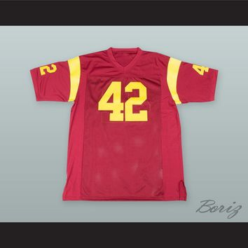 Ricky Baker 42 Red Alternate Football Jersey Boyz n the Hood