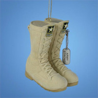 Christmas Ornament - Desert U.s. Army Boots