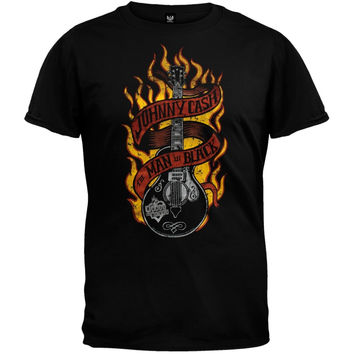 Johnny Cash - Guitar Flames T-Shirt