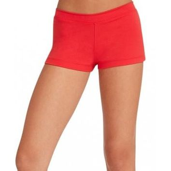 Adult Boy Cut Low Rise Short Capezio Tb113 RED
