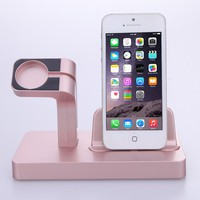 2 In 1 Smartwatch Smartphone Charging Dock Stand Cradle Smart Wristband Phones Charger Holder