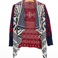 Double Zero Patterned Cardigan Sweater
