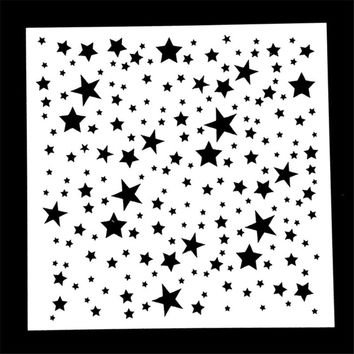 1PC Twinkle Star Shaped Reusable Stencil Airbrush Painting Art DIY Home Decor Scrap booking Album Crafts Gifts HOT