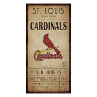 St. Louis Cardinals Classic Ticket Canvas Wall Art