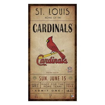 st louis cardinals classic ticket canvas from kohl s canvas