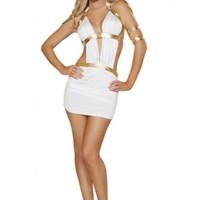 White 3pc Greek Princess @ Amiclubwear costume Online Store,sexy costume,women's costume,christmas costumes,adult christmas costumes,santa claus costumes,fancy dress costumes,halloween costumes,halloween costume ideas,pirate costume,dance costume,costume