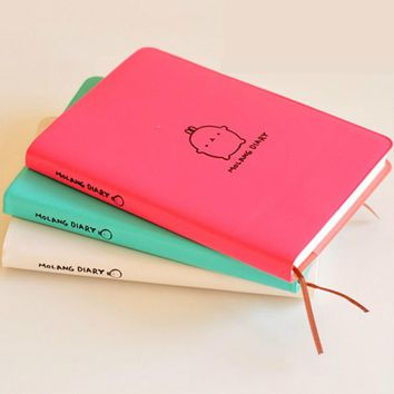 Molang Rabbit Planner Agenda Scheduler Cute Diary Any Year 2017 2018 Calendar Pocket Journal Kawaii Study Notebook Gift