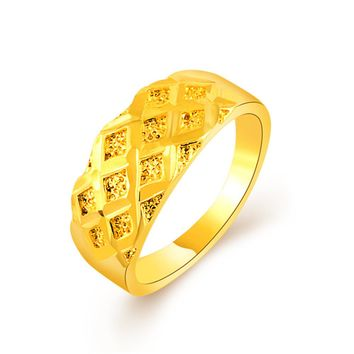 2017 Hot Selling Classic Gold Ring For Women 24k For Women Party Dating Antique Promise Rings Bijoux Femme Anel Rhodium Joyas