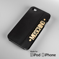 Moschino Black Bag A0819 iPhone 4 4S 5 5S 5C 6, iPod Touch 4 5 Cases
