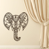 Indian Elephant Decals Ganesh Lotus Mandala Wall Decals Bedroom Om Symbol Sticker Bohemian Bedding Boho Decor for Home T110