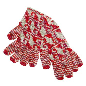 Woolly Warmth Gloves Red
