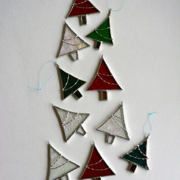 christmas ornament christmas tree stained glass tree decoratio - Glass Christmas Decorations