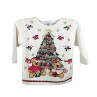 Ugly Christmas Sweater Vintage Kid's Toddler Tree Tacky Holiday