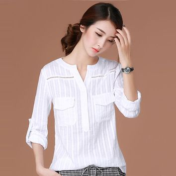 Blusas Femininas 2018 E Camisas Long Sleeve Shirt Women Clothes White Blouse Plus Size Korean Fashion Clothing Chemise Femme