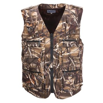 Vest Men's Sleeveless Jackets Camouflage Field Photography Breathable Tactical Vest With Many Multi Pockets Waistcoat For Men