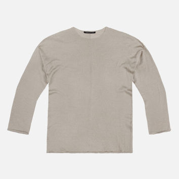 Merino Dropped Shoulder Crew / Tan