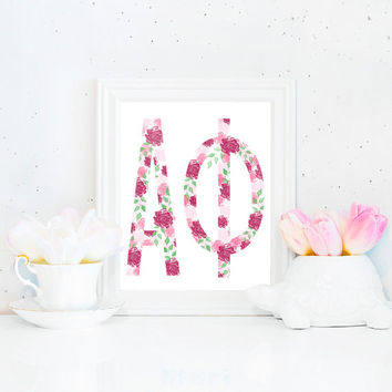 Custom Sorority Floral Printable (8x10)