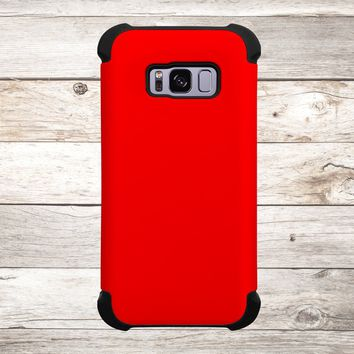Solid Color Red for Apple iPhone, Samsung Galaxy, and Google Pixel