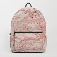 Pink Marble Backpack by allisone