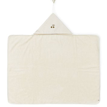 Hooded Baby Towel, White - Bonpoint