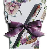 Lavender Bicycle Notepad and Pen