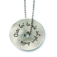Pablo Valencia - With You...Sterling Silver Poetry Necklace